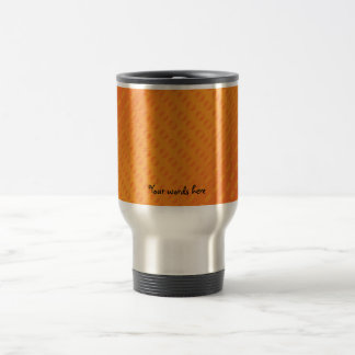 Orange polka dots on orange background coffee mugs