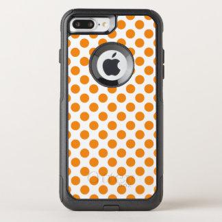 Orange Polka Dots OtterBox Commuter iPhone 8 Plus/7 Plus Case