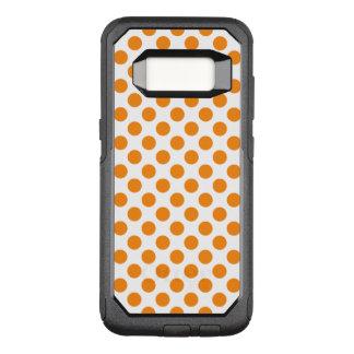 Orange Polka Dots OtterBox Commuter Samsung Galaxy S8 Case