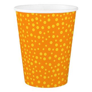 Orange Polka Dots Paper Cup