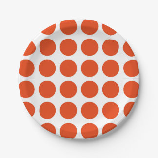 Orange Polka Dots Paper Plates 7 Inch Paper Plate