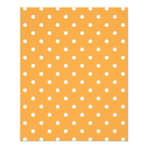 Orange Polka Dots Pattern. Flyer Design