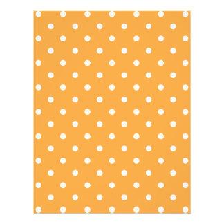 Orange Polka Dots Pattern. Full Color Flyer