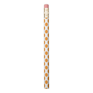 Orange Polka Dots Pencil