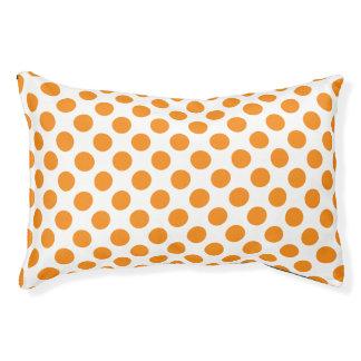 Orange Polka Dots Pet Bed
