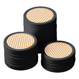 Orange Polka Dots Poker Chips