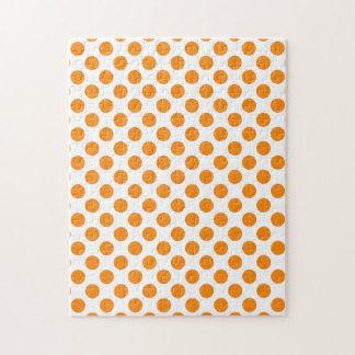 Orange Polka Dots Puzzle