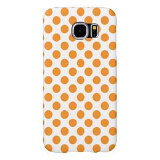 Orange Polka Dots Samsung Galaxy S6 Cases