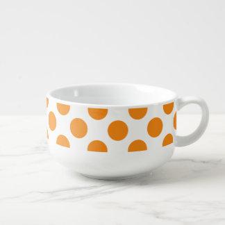 Orange Polka Dots Soup Mug