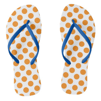 Orange Polka Dots Thongs
