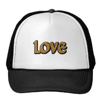 Orange Polkadot Love Trucker Hat