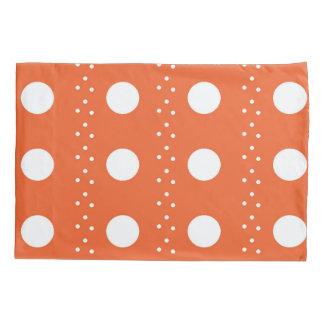 Orange Polkadot Stripes Pillowcase