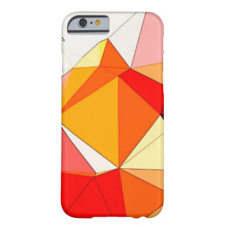 Orange Polygons Barely There iPhone 6 Case