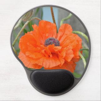 Orange Poppy Gel Mouse Mats