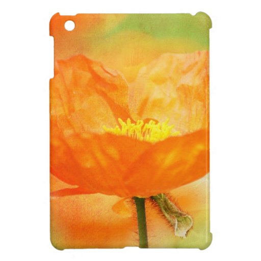 Orange Poppy iPad Mini Case