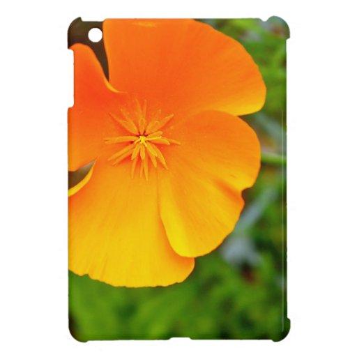 Orange Poppy iPad Mini Cover
