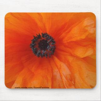 Orange Poppy Macro Mouse Pad