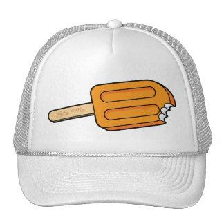 Orange Popsicle Bite Me Hat (White)