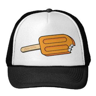 Orange Popsicle Bite Me Hat (White/Black)
