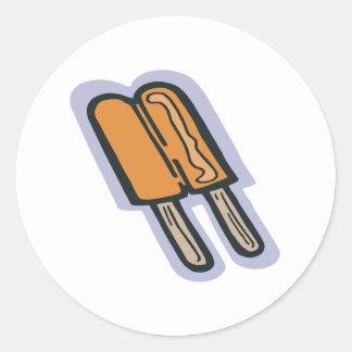 Orange Popsicle Round Sticker