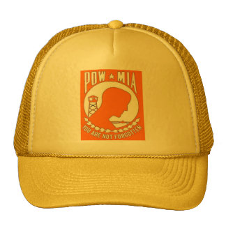 ORANGE POW TRUCKER HAT