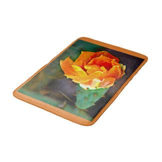 Orange Prickly Pear Flower Bath Mat