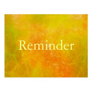 Orange professional appointment reminder card postcard
