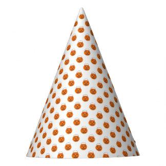 Orange Pumpkin Polka Dots Halloween Trick-or-Treat Party Hat