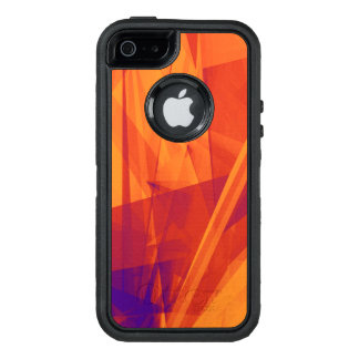 Orange Purple Abstract Background for Design OtterBox Defender iPhone Case