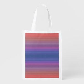 Orange Purple and Blue Stripes Design