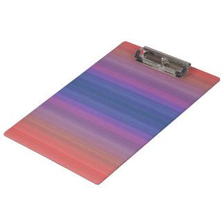 Orange Purple and Blue Stripes Design Clipboard