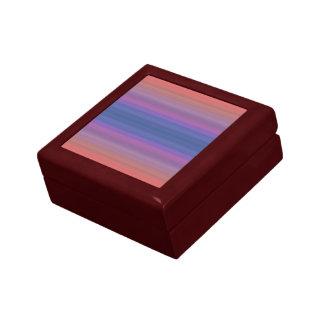 Orange Purple and Blue Stripes Design Gift Box