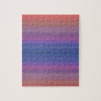 Orange Purple and Blue Stripes Design Jigsaw Puzzle