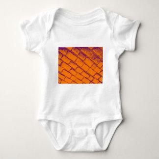 orange purple cobbles baby bodysuit