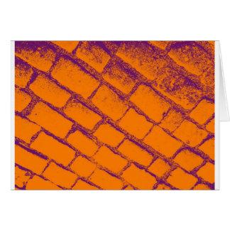 Orange Purple Cobbles Card