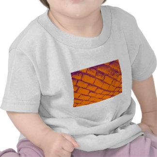 orange purple cobbles shirt