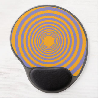Orange & Purple Concentric Circle Tunnel Gel Mouse Pad