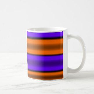 Orange & Purple Horizontal Stripes Coffee Mug