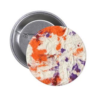 orange purple red wrinkled paper towel design button