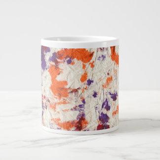 orange purple red wrinkled paper towel design jumbo mug