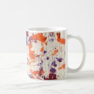 orange purple red wrinkled paper towel design mugs