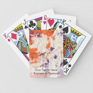 orange purple red wrinkled paper towel design poker deck