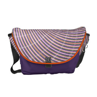 Orange Purple Swirl Courier Bags