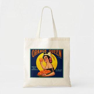 Orange Queen Orange Crate Label Budget Tote Bag
