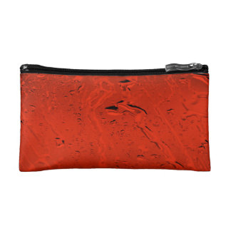 Orange Rain Makeup Bag