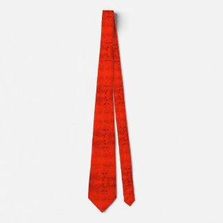 Orange Rain Tie
