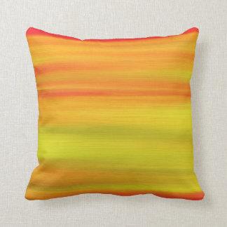 Orange Rainbow Paint Art Design Abstract Cushion