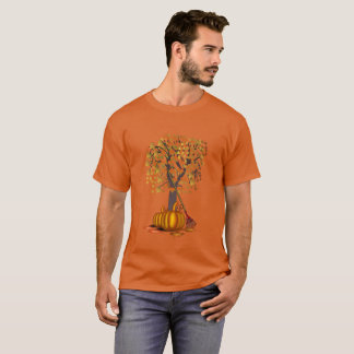 Orange Raking Leaves in Autumn StyleT-Shirt T-Shirt