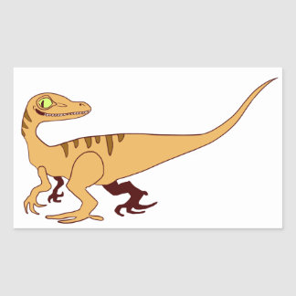 Orange Raptor Rectangular Sticker