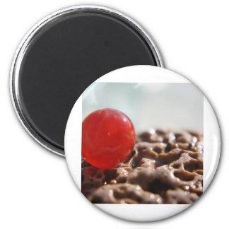 Orange Rare Marble 6 Cm Round Magnet